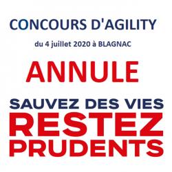 Concours d'agility ANNULE