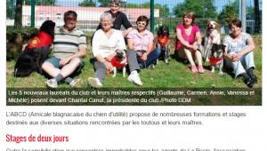 Des chiens formes pour visiter les seniors 23 06 2016 ladepeche fr