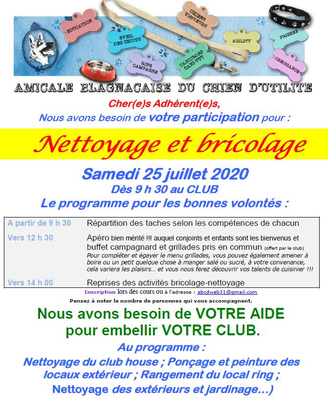Invitation nettoyage 1