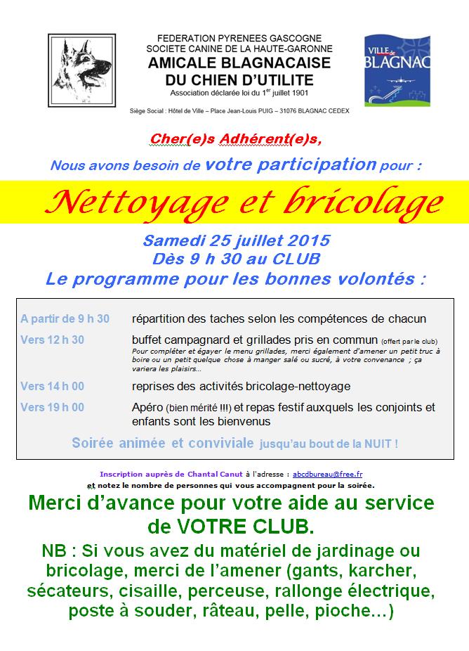Nettoyage 2015