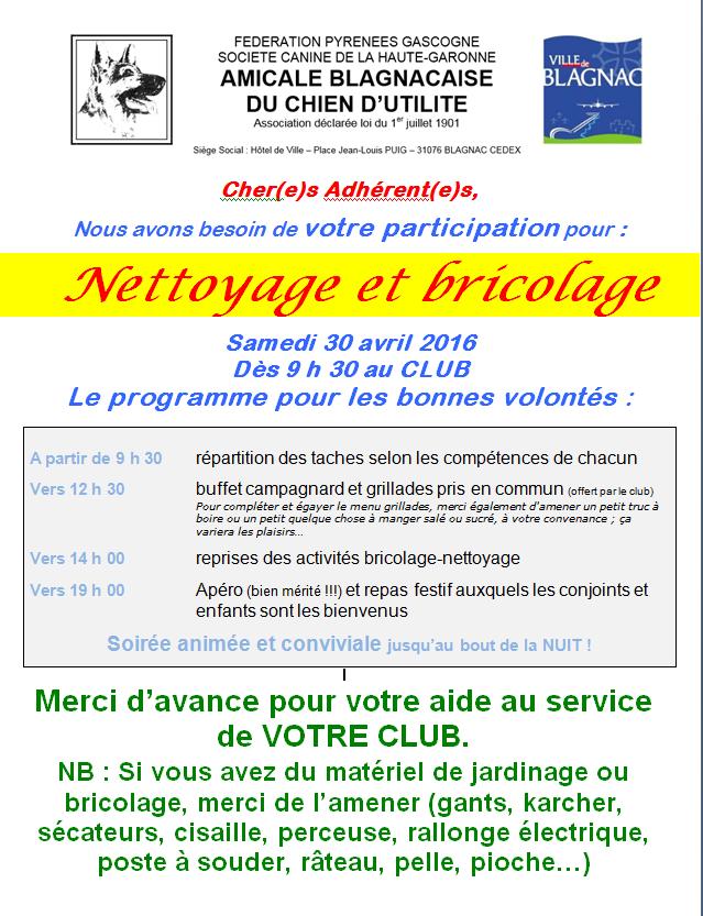 Nettoyage 2016