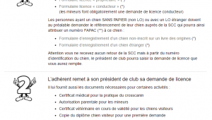Procedure pour demander une licence commission nationale education et activites cynophiles